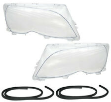 Clear Headlight front light lens set pair for BMW E46 saloon 01-05 halogen xenon