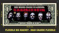 RAMMSTEIN IMAN BILLETE 1 DOLLAR BILL MAGNET