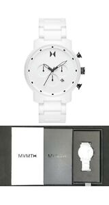 MVMT Movement Exclusive Limited Edition Chrono Ceramic White Black Watch 45MM