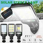 600W LED Solar Wall Light Motion Sensor Outdoor Garden Security Street Lamp USA
