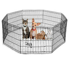 Puppy Pet Play pen Foldable Enclosure Welping Dog Cage Run Fence Crate Large