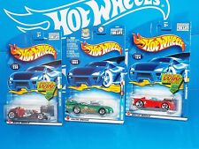 Hot Wheels Lot of 3 2002 Vehicles Saltflat Racer Double Vision Monoposto