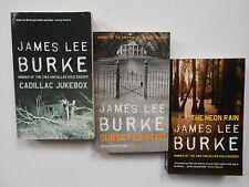 JAMES LEE BURKE x 3 - CADILLAC JUKEBOX, SUNSET LIMITED & THE NEON RAIN