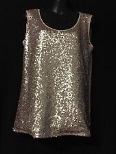 LADIES TOP - Rose Gold sequines - size 10
