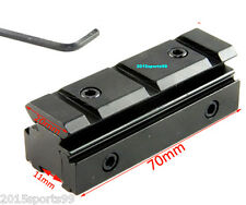 Dovetail 3/8 Inch to 7/8 Inch Picatinny Weaver RIS Rail Scope Mount Adapter US