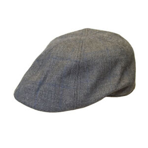 Checked Flat Cap H61 Grey Mens Peaky Blinders Gatsby Newsboy Driving Hawkins Hat