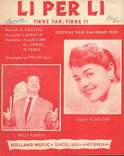 WILLY ALBERT/TEDDY SCHOLTEN - LI PER LI (BLADMUZIEK / 1959)
