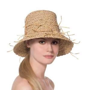 Authentic NWT Eric Javits NYC Designer Women's Hat Headwear - Valeria in Peanut