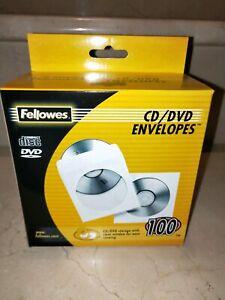 Fellowes CD/DVD envelopes box of 100 BRAND NEW