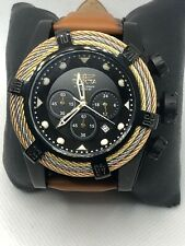 Invicta 23055 Men's Brown Leather Analog Gray Dial Quartz Genuine Watch KS182
