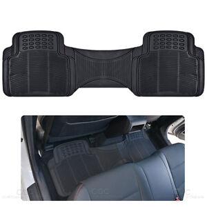 Black Nibbed Rubber Floor Mat Runner 1Pc Auto Interior