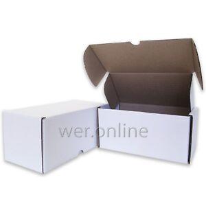 "10 x Postal Gift White Diecut Cardboard Boxes 8 x 4 x 4"" SW"