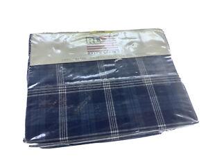 Ralph Lauren One Twin Flat Sheet ! 100% Cotton Plaids