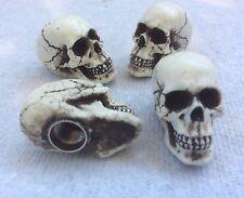 American Made Skull Valve Stem Caps Hot Rat Street Rod Skeleton Punk Goth 9VC4
