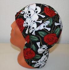 N-16 Roses and Skulls. Welders Hats, Bikers Caps, Welding Cap Hat, Cotton. USA.