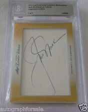 Jack Nicklaus & Lee Trevino 2014 Leaf Masterpiece Cut Signature signed card 1/1