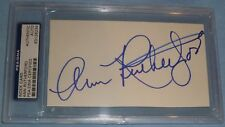 Ann Rutherford Signed Gone With the Wind Index Card PSA