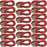 20 LOT PACK RED 6 ft foot 3 pin XLR M/F shielded microphone mic audio cables NEW