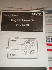 SANYO VPC-E-760 MANUAL IN ENGLISH,SPANISH AND FRENCH  PAPERBACK BOOKLET