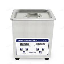 2L Digital Heated Commercial Ultrasonic Cleaner Jewelry Teeth Pen Coin Cleaning