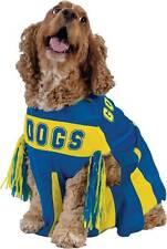 NWT CHEERLEADER Dog Costume Medium Blue & Yellow Football Sports Halloween