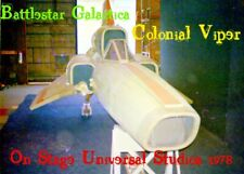 Battlestar Galactica-Colonial Viper On-Stage 1978 Universal 4 Pic Set Reduced!