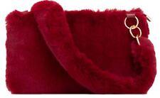 Winter Ladies Faux Fur Clutch Bag Plain Handbag Top Zipped Stylish Evening Party