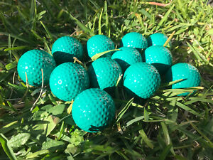 12 Golf Balls in Bright Green Colour Coloured Standard Weight Size Made in Korea