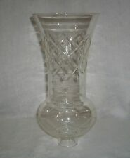 "ANTIQUE UNMARKED MAKER CUT GLASS 10.5"" TALL CANDLE LAMP SHADE - MINOR RIM NICKS"