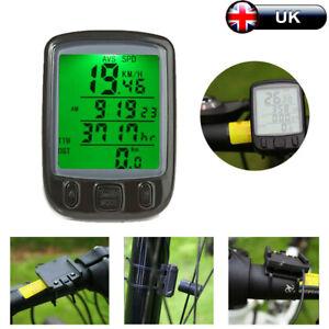 Wired LCD Bike Computer Speedo Odometer Waterproof Speedometer Cycle Bicycle UK