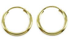 ECHT GOLD *** Creolen Ohrringe Rohrcreolen 15 mm