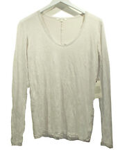 NEW COTTON CITIZEN Beige Melbourne T Shirt sz S Crinkle Textured Fabric