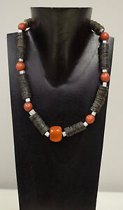 African Amber Resin Red Beads Orange Amber Necklace