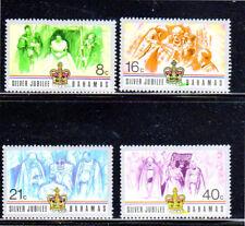 BAHAMAS #402-405  1977  QEII  25TH ANNIV.  MINT  VF NH  O.G