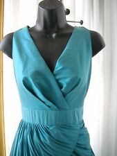 SIZE 4 MAX AND CLEO TEAL RUFFLE DRESS PARTY FORMAL