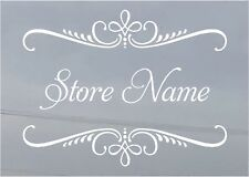 Custom Business Store Name Sign Vinyl Decal Sticker 15x20  Window Door Glass