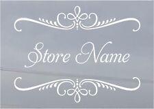 Custom Business Store Name Sign Vinyl Decal Sticker 15x20 Window Door Glass