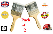"""Paint Brushes Indoor / Outdoor Wood Handle 4"""" 2 x Large  £4.89"""