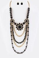 Beads & Chain Boho Layered Necklace Set