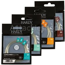 Hardy 9ft Copolymer Precision Tapered Trout Fly Fishing Leaders - 3 Pack