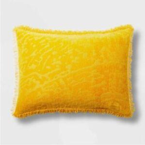 Opalhouse Alligator Chenille Fringe Saffron STANDARD Pillow Sham
