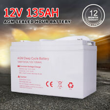 12V 135AH AGM Deep Cycle Battery Portable Power Bank For Caravan 4WD 12 Volt