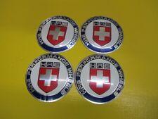 4pc 64mm Car Wheel Center HUB Caps Curve Badge EMBLEM White/Blue HRE PERFORMANCE