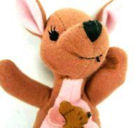 "Vintage 1997 Kanga & Roo Mattel 6"" Disney Winnie the Pooh Plush Bean Bag Stuffed"