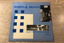 Simple Minds Sister feelings call UK Vinyl 1981 LP Virgin OVED 2
