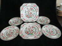Johnson Bros Brothers INDIAN TREE Bread Plates & Square Plates Lot
