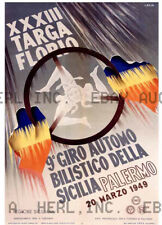 1949 Targa Florio automobile auto race advert ca 8 x 10 print prent poster