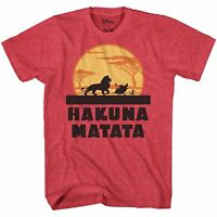 Lion King Hakuna Matata Disneyland Disney World Adult Mens Tee Graphic T-shirt