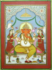 Ganesha Painting Paper Home Decorative Wall Hanging  Indian Art