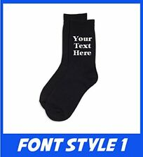 Personalised Custom Text Mens Socks Valentines Birthday Fathers Day Gift Present